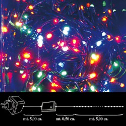 Luces Navidad 100 Leds Color Interior / Exterior Ip44