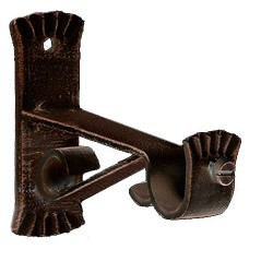 Soporte Forja Ø 20 mm. Caracol Negro / Cobre Juego 2 Piezas