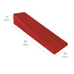 Tabla Cortar Polietileno 30x20x1,5 cm.  Color Rojo