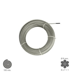 Cable Galvanizado   6  mm. (Rollo 100 Metros) No Elevacion