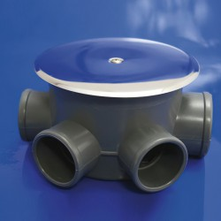 Bote Sifónico PVC T-85  110  50-40 Altura 105 mm.