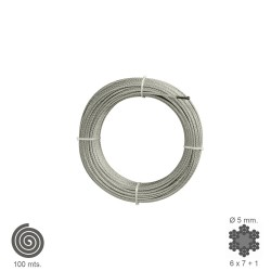 Cable Galvanizado   5 mm. (Rollo 100 Metros) No Elevacion